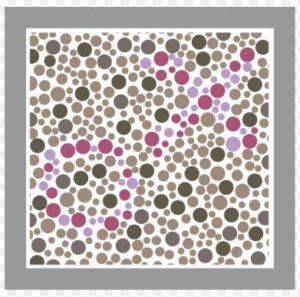 Testplaat Hardy Rand Rittler (HRR) test bij onderzoek naar kleurenblindheid