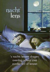 's Nacht lenzen in, overdag scherp zicht zonder bril of lenzen.
